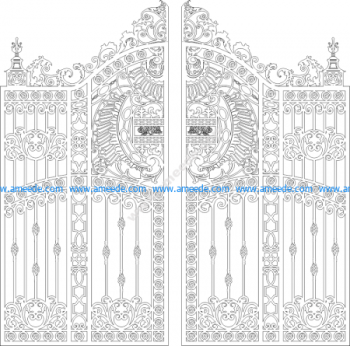 Port gates cut CNC gorgeous DXF file