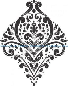 Rhombic patterned pattern