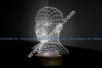 Head 3D LED Night Light