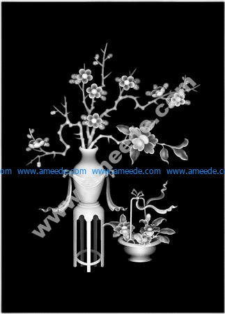3D Grayscale Image Vase BMP