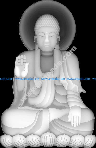Buddha image grayscale BMP