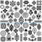 Exquisite Pattern Vector Classical Tradition
