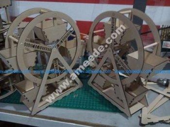 Ferris wheel assembly model