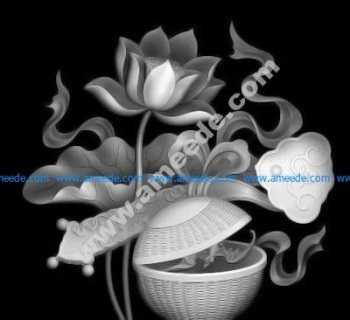 Flowers CNC Grayscale Image BMP
