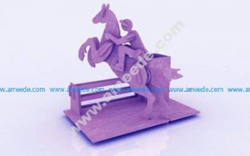Horse Riding Pen Holder Stand