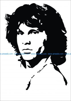 Jim Morrison Vector Pattern