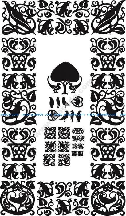 Knickerbocker ornates – Art nouveau border designs