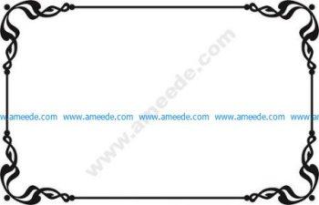 Showcard border vectors