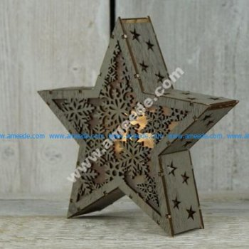 Star Light Lamp Laser Cut