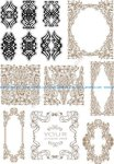 Vintage Baroque Ornament Retro Pattern Free Vector