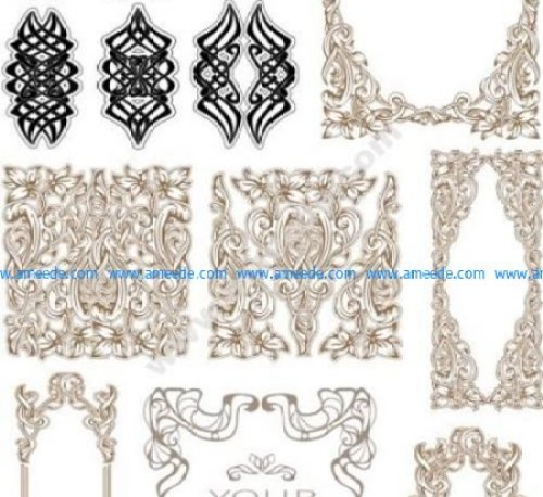 Vintage Baroque Ornament Retro Pattern Free Vector