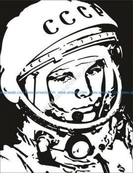 Yuri Gagarin Vector Pattern