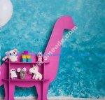 dinosaur toy shaped shelf