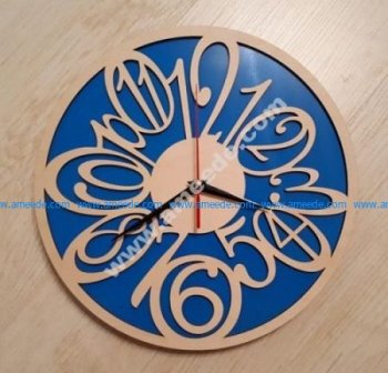 wall clock face