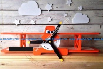 Airplane Shape Shelf Laser Cut