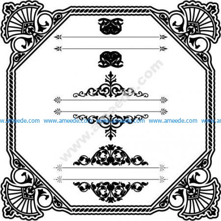 Art Border Frame with Ornaments