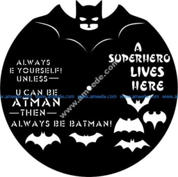 Batman Vinyl Clock Template
