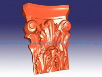 Carved support leg 3D (stl format)