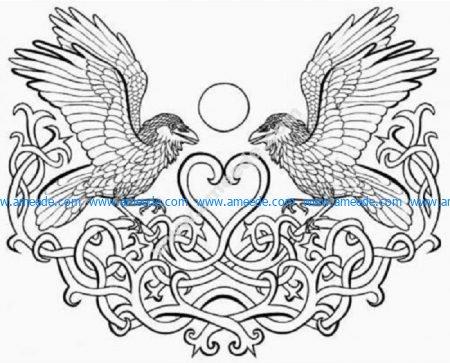 Celtic eagles heart
