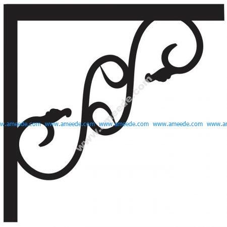 Corner design Vector corel file 11 | Graphic Design Vector