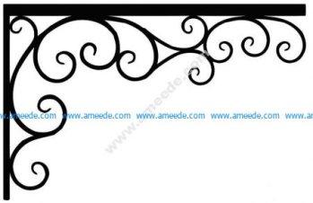 Corner design Vector corel file 9