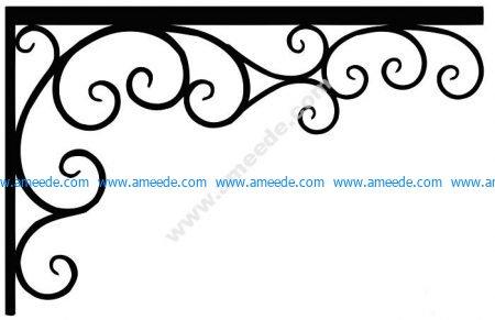 Corner design Vector corel file 9 | Graphic Design Vector