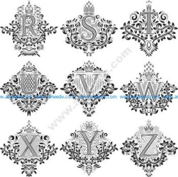Decorative Letters Vector Art