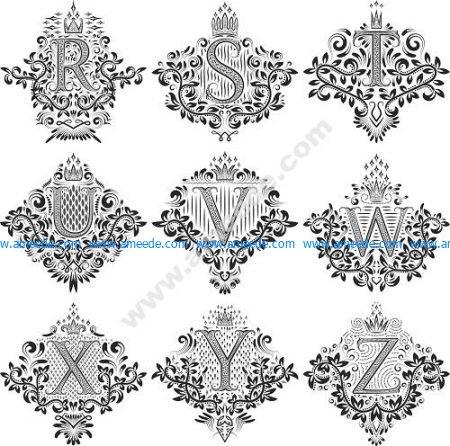 Decorative Letters Vector Art