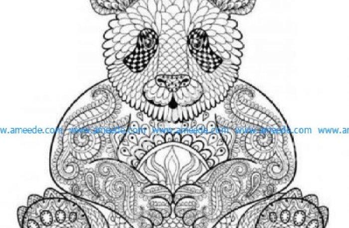 Detailed Zen panda