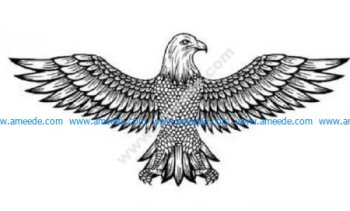 Detailed flying eagle