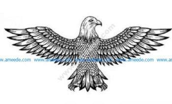 Detailed flying eagle