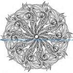 Detailed zen flower mandala