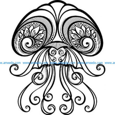 Detailed zen jellyfish