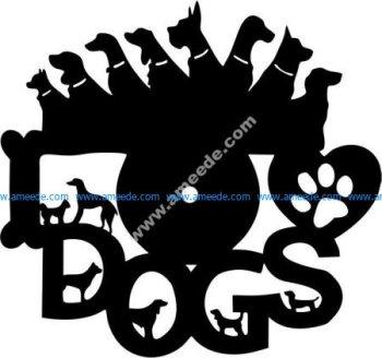 Dog family clock