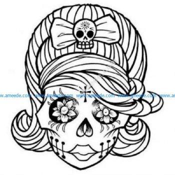 Female sugar skull