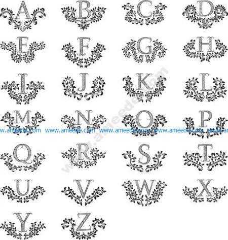 Floral Ornamental Alphabet Letters