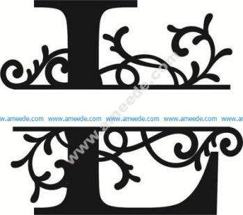 Flourished Split Monogram L Letter