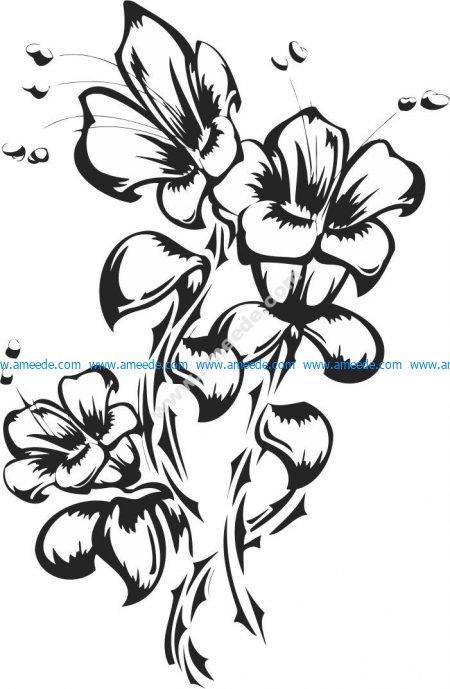Flowers Tattoo Vector Art