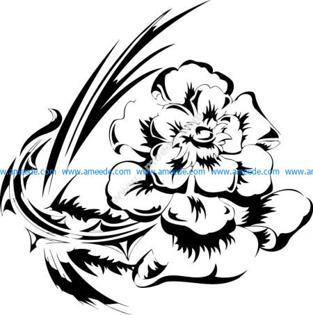 Flowers Vector illustration Tattoo Design