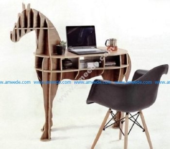 Horse Shaped Bookshelf
