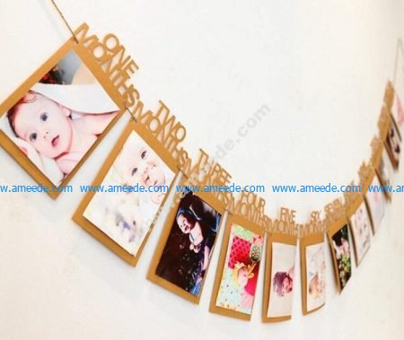 Laser Cut Baby Photo Frames