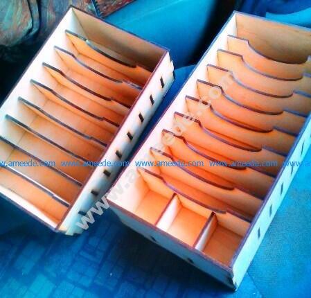 Laser Cut Box Rack for Storage