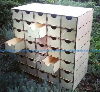 Laser Cut Organizer with Drawers