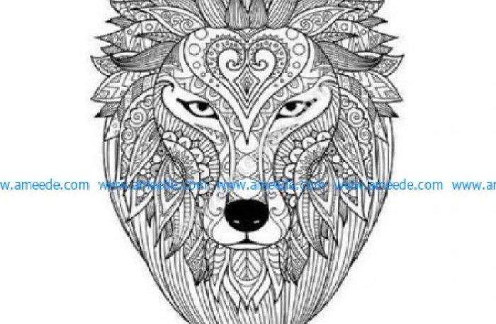 Lion zendoodle