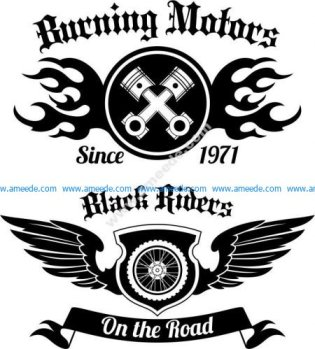 Motorcycle Club Vector Art