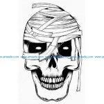 Mummy zombie skull
