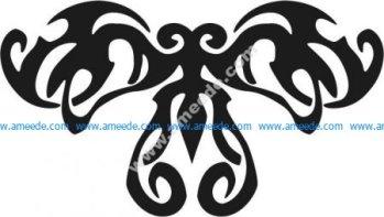 Pattern of ghost butterfly