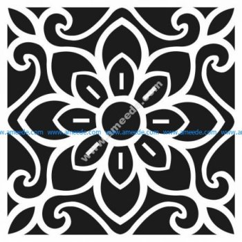 Patterned tiles with ceramic tiles