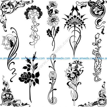Set of Floral Designs