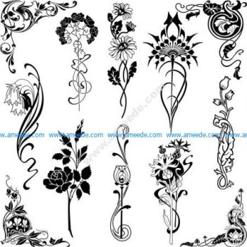 Set of Floral Designs